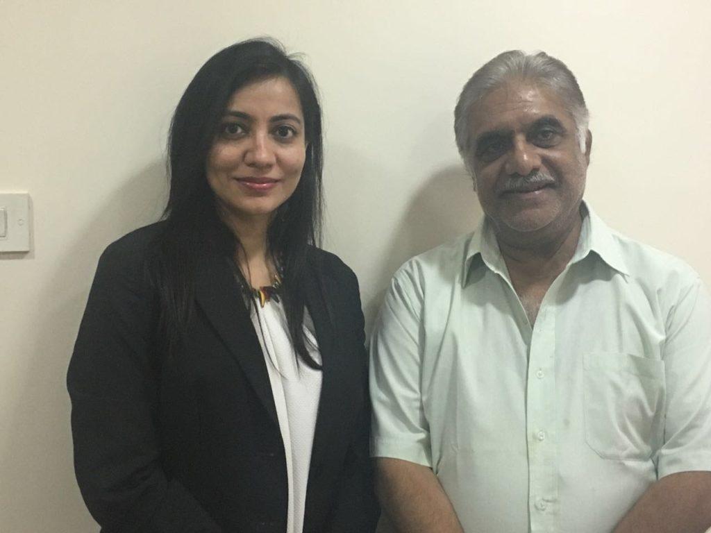 Actor Anjan Srivastav with Dr Shalaka Kadali at Kadali Dental Clinic