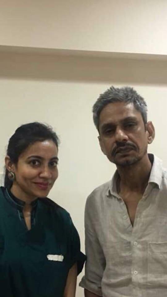 Actor Vijay Raaz and Dr Shalaka Kadali
