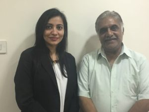 actor Anjan Srivastav and Dr Shalaka Kadali