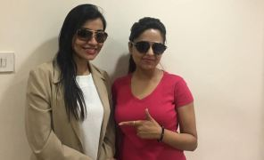 Model & Actress Sugandha Mishra with Dr Shulaka Kadali