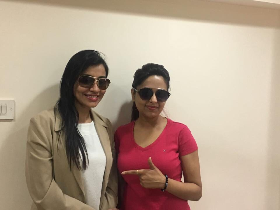 Model & Actress Sugandha Mishra with Dr Shalaka Kadali at Kadali Dental Clinic
